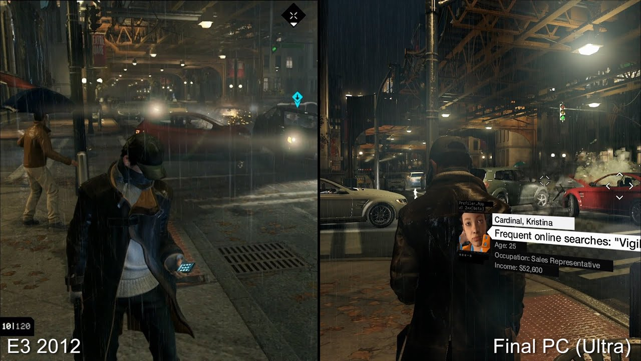 Watch Dogs Demo Vs Final