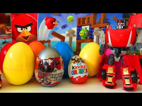 Киндер Сюрприз Трансформеры Вся Коллекция!!!Unboxing Kinder Surprise Eggs Transformers Prime
