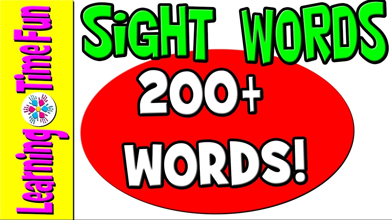 Sight Words High Frequency Words Kindergarten Sight Words