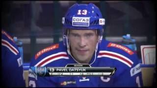 Pavel Datsyuk scores sick backhander goal off a Kovalchuk pass