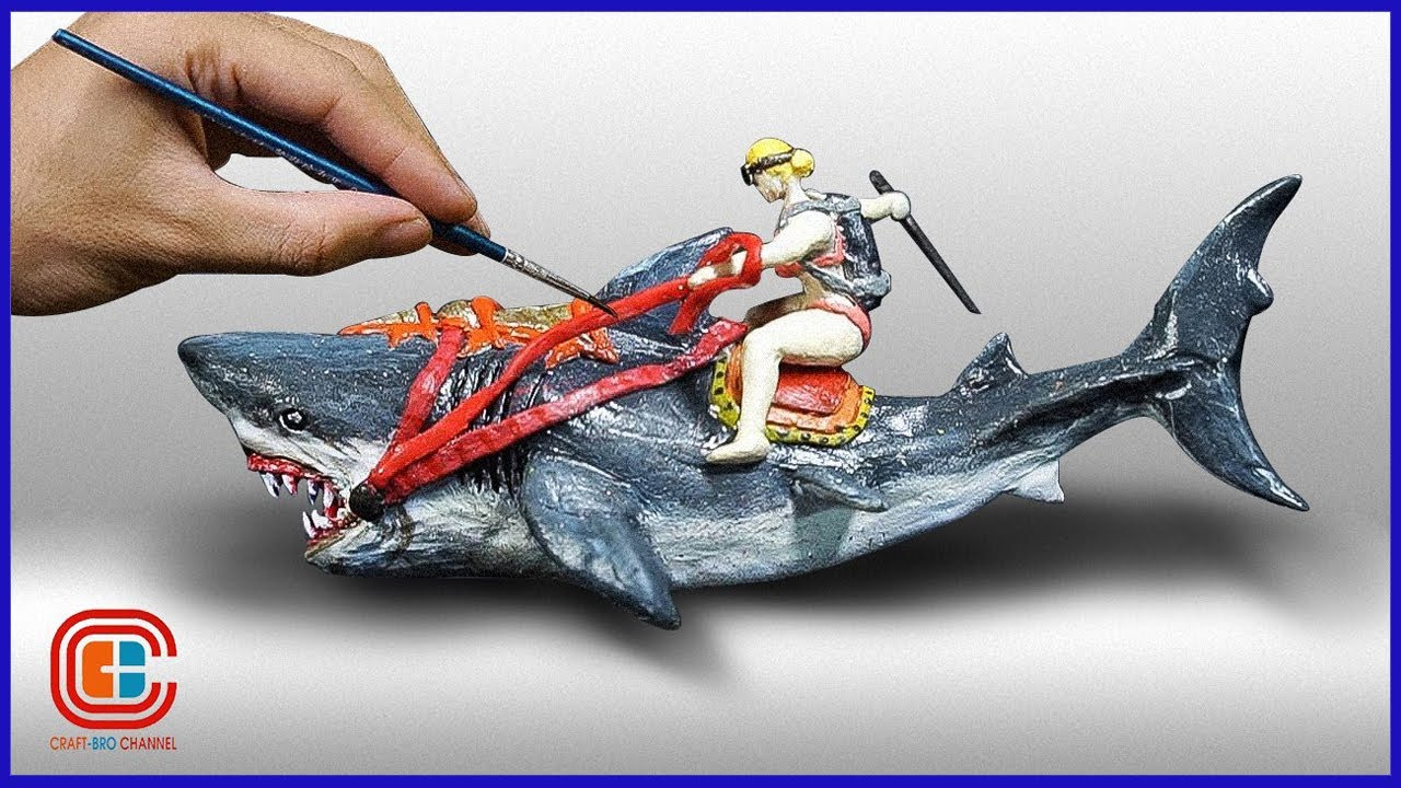 How To Make a Olympic Shark Race Diorama / Polymer Clay / Epoxy resin