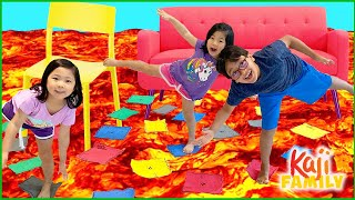 The Floor is Lava Challenge Game!