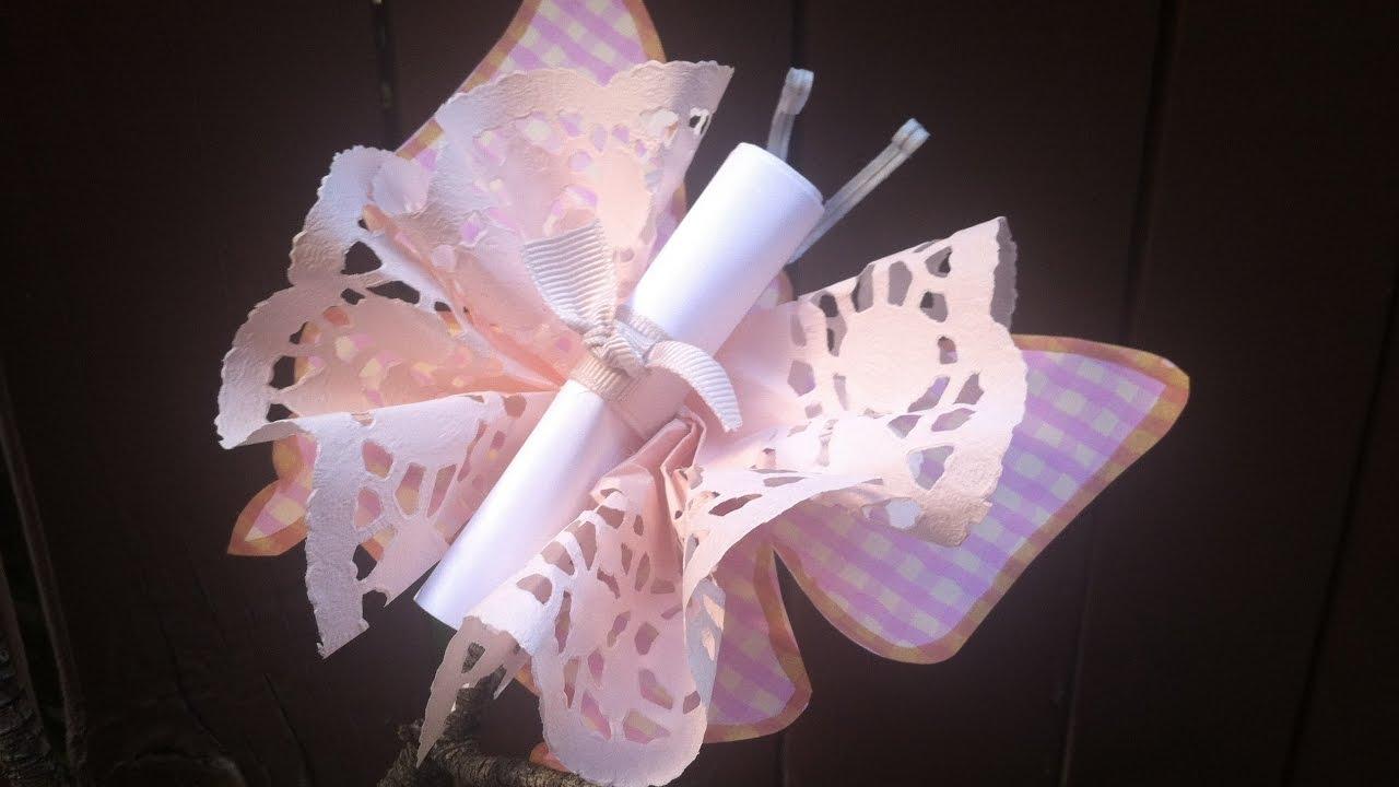Como hacer una hermosa invitacion en forma de mariposa for Como disenar una casa gratis