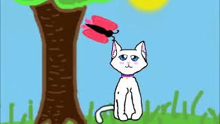 Котёнок Алекс и бабочка