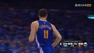  湯普森演繹接球投籃的藝術 無球跑動堪稱一絕 