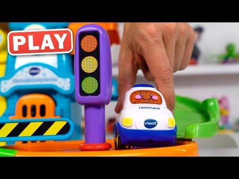 KyKyPlay - Обзор Полицейского участка и Машинки - Поиграйка с Пилотом Винтиком