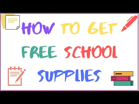 HOW TO GET FREE SCHOOL SUPPLIES