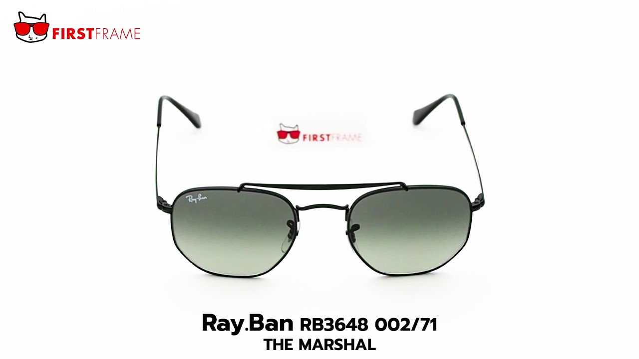 ded1d916a26 RayBan RB3648 002 71 THE MARSHAL - YouTube