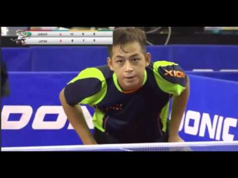 PON 2016 FINAL Tenis Meja  Beregu Putra JABAR VS JATIM , GILANG MAULANA VS FICKY SUPIT