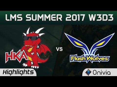 HKA vs FW Highlights Game 1 LMS 精華 夏季職業聯賽 2017 SUMMER Hong Kong Academy vs Flash Wolves by Onivia