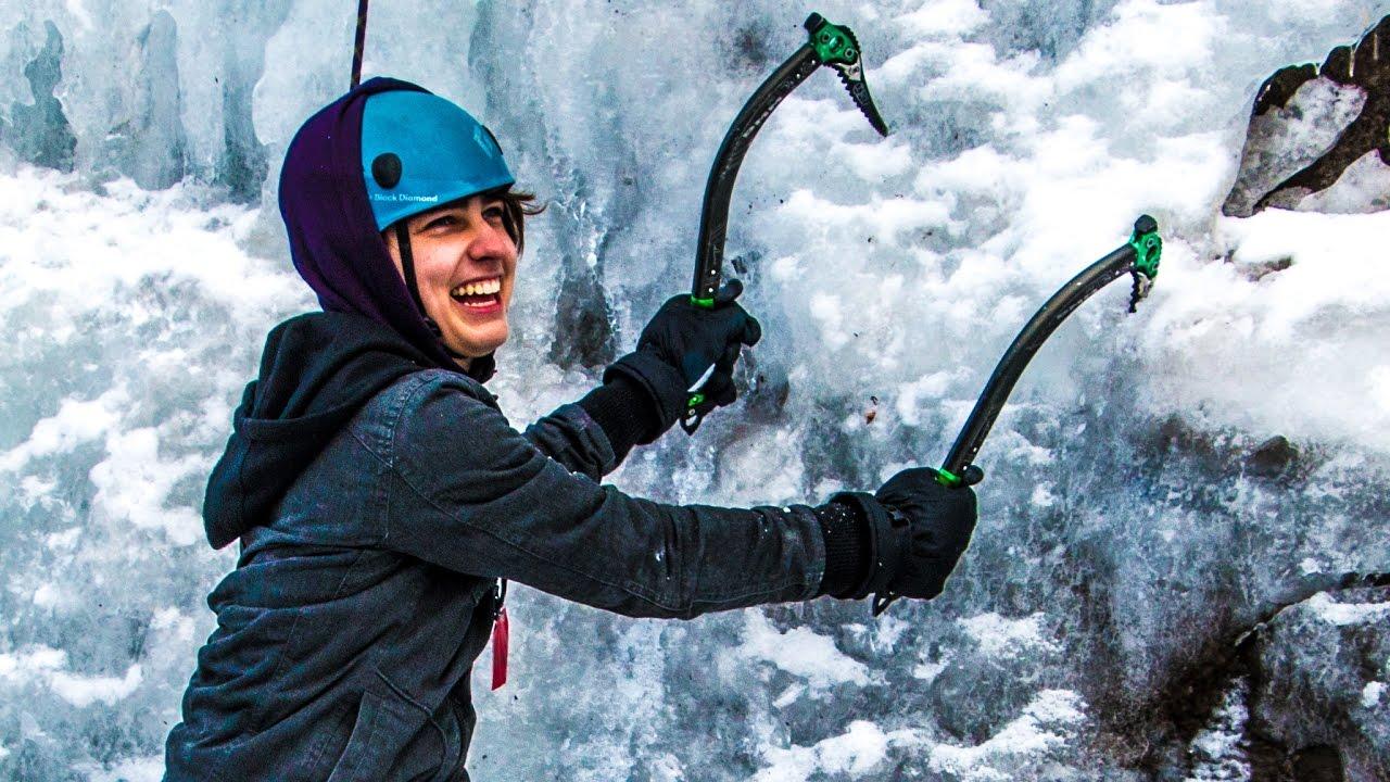 Climbing Frozen Waterfalls W Sam Colby Amp Corey Youtube