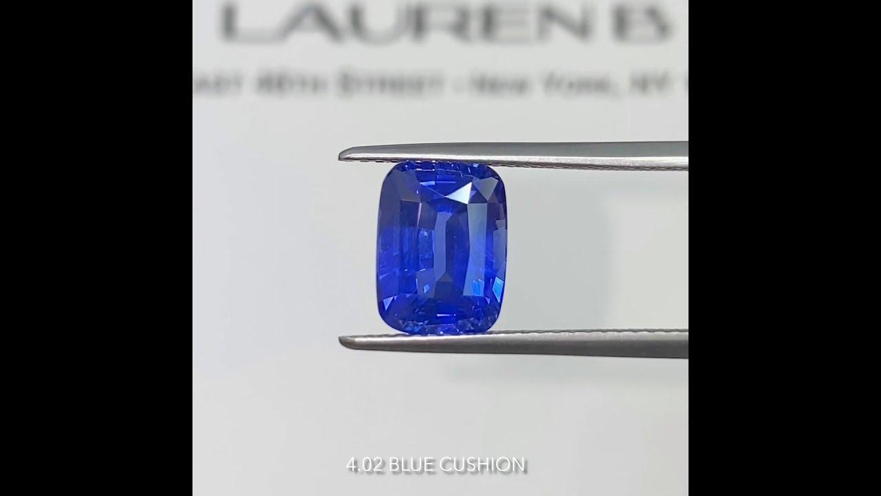 Cushion Cut Sapphire Loose Stone Comparison