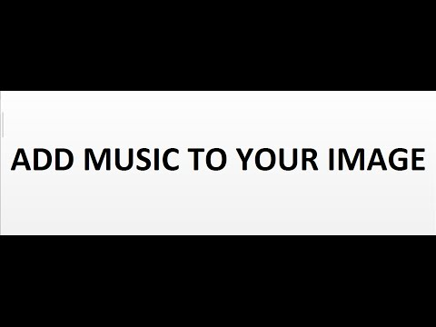How to add music to your image online