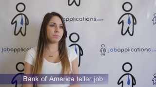 Bank of America Interview - Teller