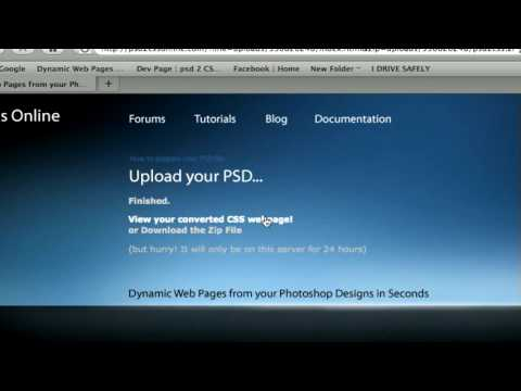 psd 2 CSS Online | Dynamic Web Pages from your Photoshop