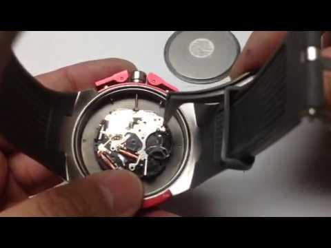 cd5f5c85c01f Armani Exchange AX1183 watch battery change - YouTube
