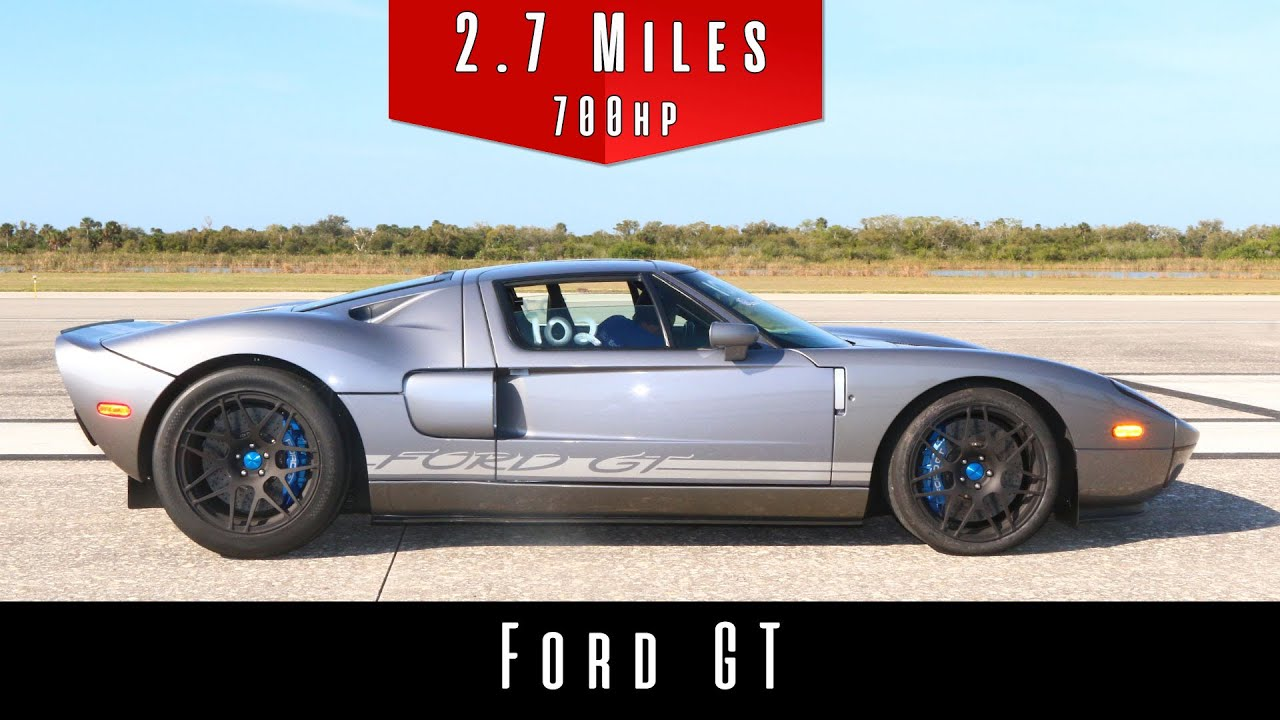 2006 Ford Gt Top Speed Test Youtube