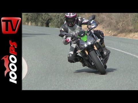 First Test   Kawasaki Z1000 2014 - Action & Details Foto