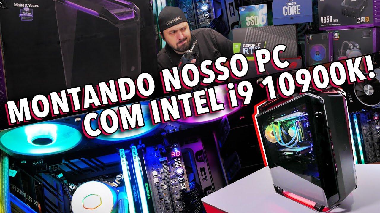 MONTANDO NOSSO SUPER PC COM INTEL i9 10900k!