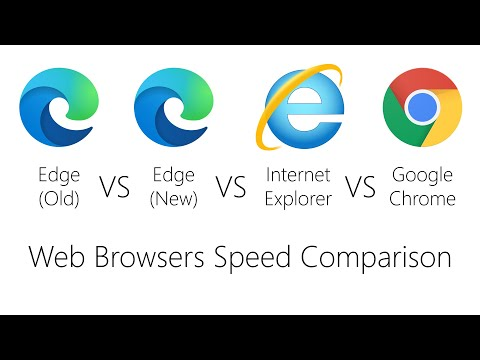 Web Browser Comparison - Edge(Old) VS Edge(New) VS Internet Explorer VS Google Chrome (Speed)