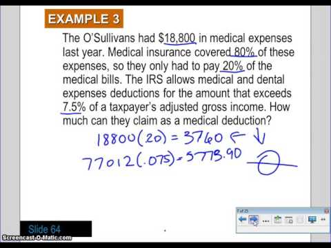 7 5 Form 1040 And Schedule A And B Video 1 - Youtube