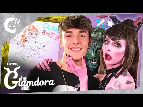 THE GLAMDORA SHOW ft. BRYCE HALL!! | Pop Culture Horror Talk Show | Crypt TV