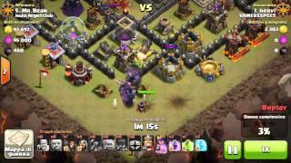 gowipe non fa x me clash of clans war vs th10 maxato