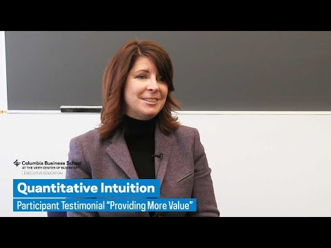 "Quantitative Intuition: Participant Testimonial ""Providing More Value"""
