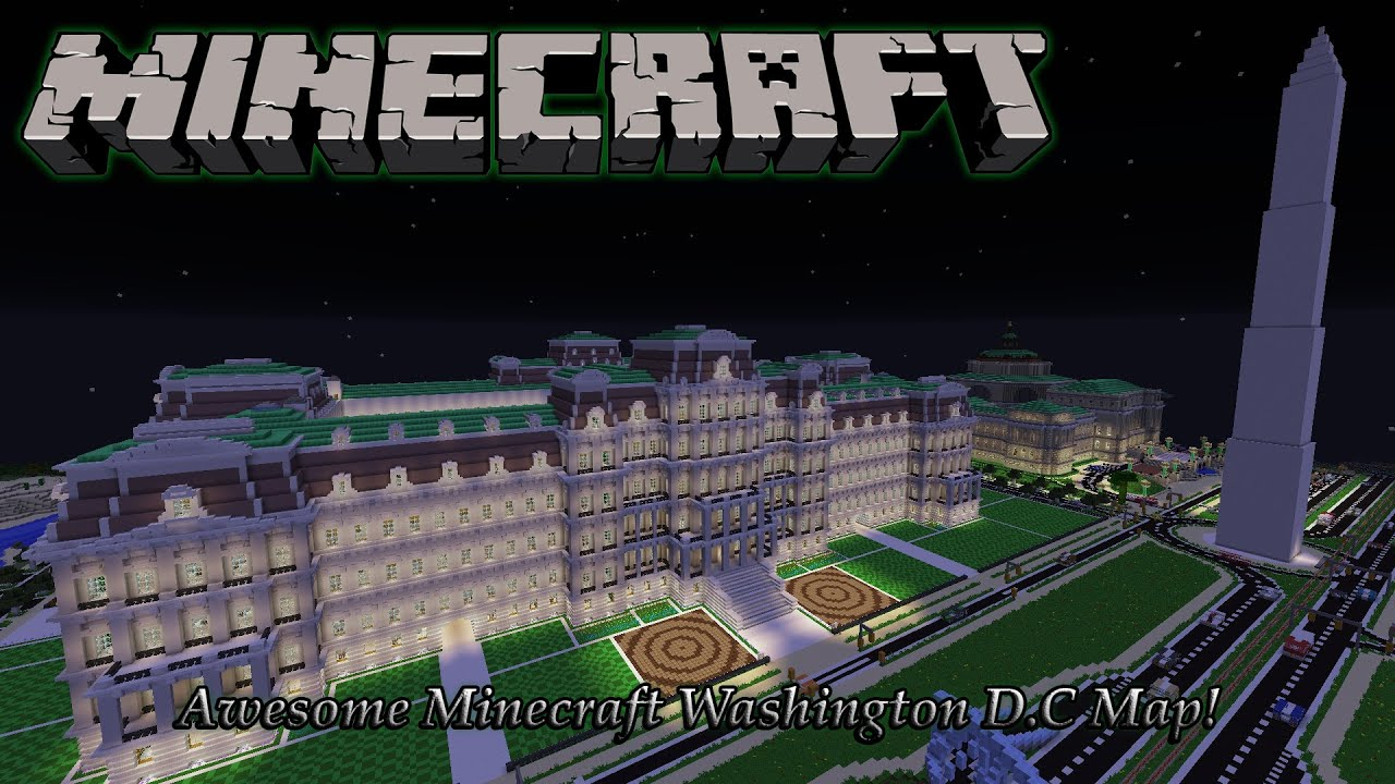 Minecraft Awesome Washington DC Map Prodigious Washington PC - Washington dc capitol map