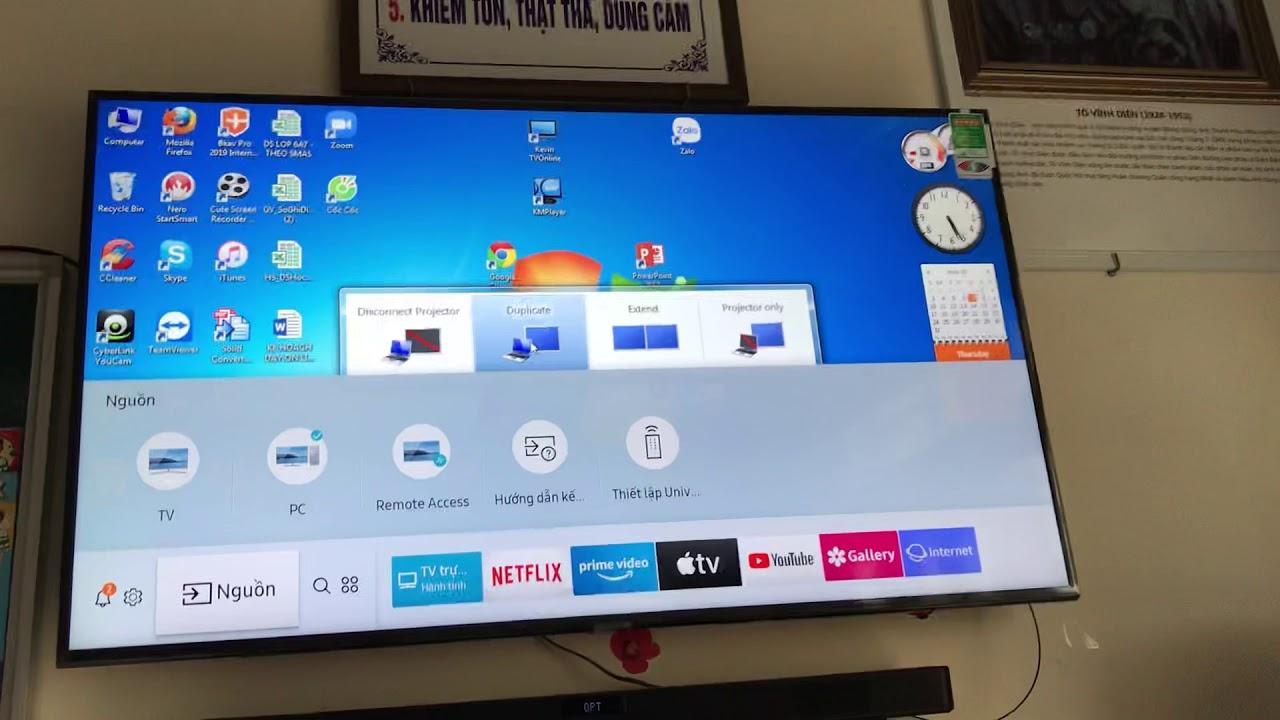 Cách kết nối Laptop với Smart Tivi bằng cáp HDMI và cáp VGA to HDMI -  YouTube