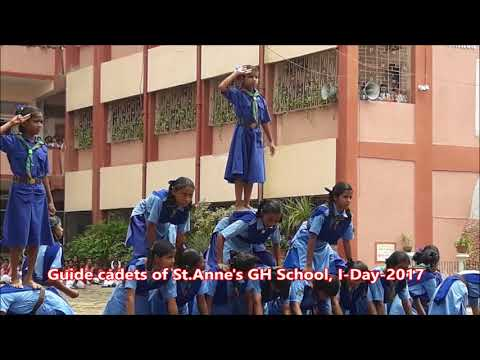 Pyramid formation by guide cadets of St  Anne's Girls' High School, Ranchi (GYV)