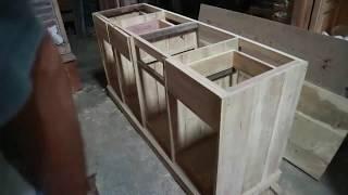 Cara Membuat Kitchen Set Cabinet Minimalis Letter L Untuk Dapur Mini (PART 1)