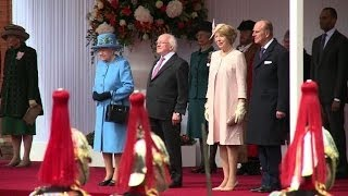 British Queen welcomes Irish president on historic visit