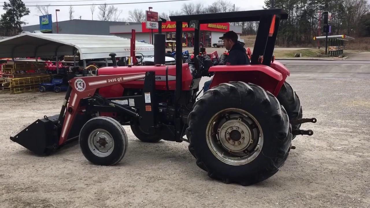 SOLD   Massey Ferguson 270 Tractor with Bush Hog 2246 QT Loader $11,500 SOLD