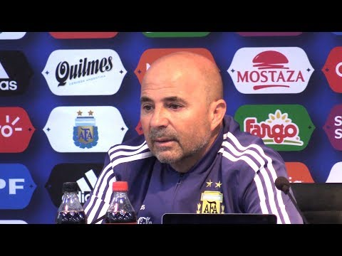 Jorge Sampaoli Press Conference - Italy v Argentina - International Friendly