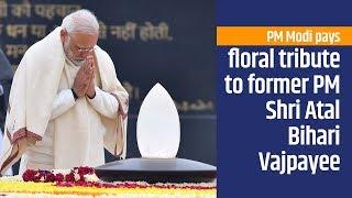 PM Modi pays floral tribute to former PM Shri Atal Bihari Vajpayee in New Delhi   PMO