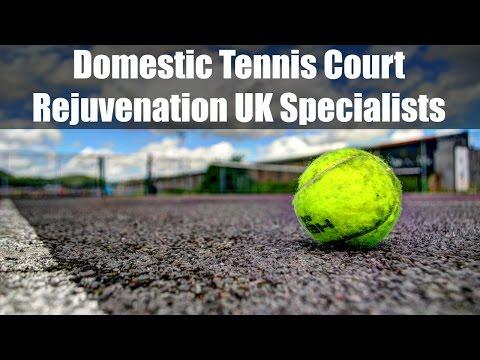 Domestic Tennis Court Rejuvenation UK Specialists