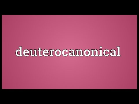 Deuterocanonical Meaning