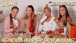 Who lost their virginity first? Popular group? & boy talk ft MY HIGHSCHOOL FRIENDSHIP GROUP MUKBANG!