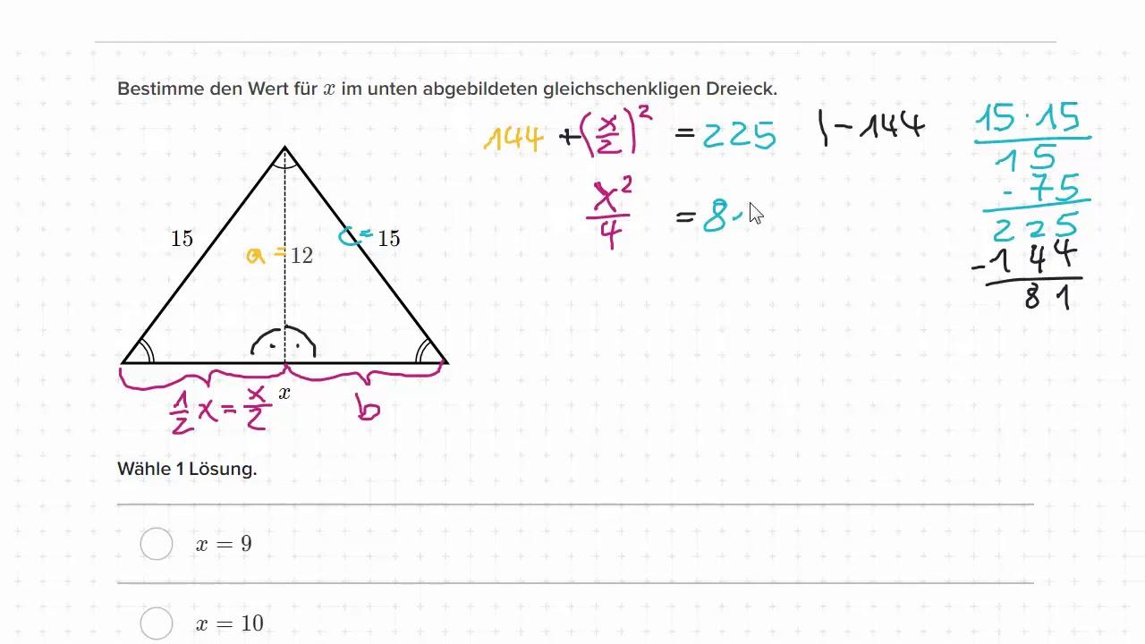 Fancy Gleichschenkliges Dreieck Satz Arbeitsblatt Ideas ...