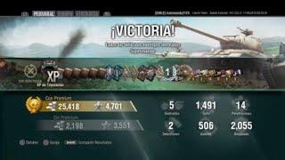 World of Tanks PS4 victoria WOT CLAN CHILE 5 KILL KV-220-2
