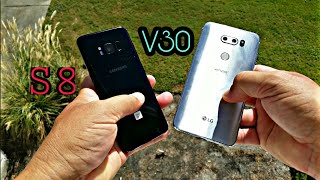 LG V30 & Samsung Galaxy S8 - Comparativa de tamanos