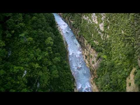 drone-footage-of-a-river-between-mountains-#nature