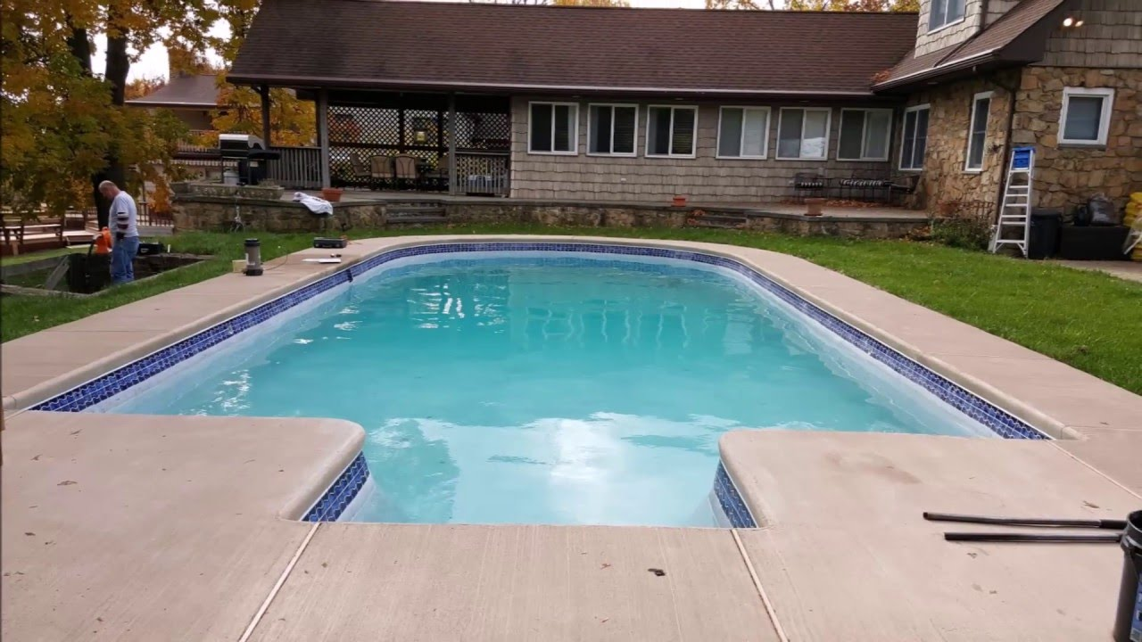 Concrete Pool Renovation Tile Installation Diamond Brite