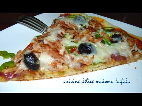 recette-de-pizza-facile-maison-_easy-homemade-pizza-_البيتزا-بطريقة-سهلة