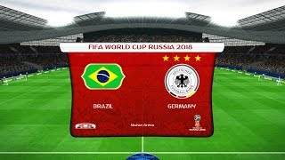 PES   Brazil vs Germany   FIFA World Cup 2018   Gameplay PC