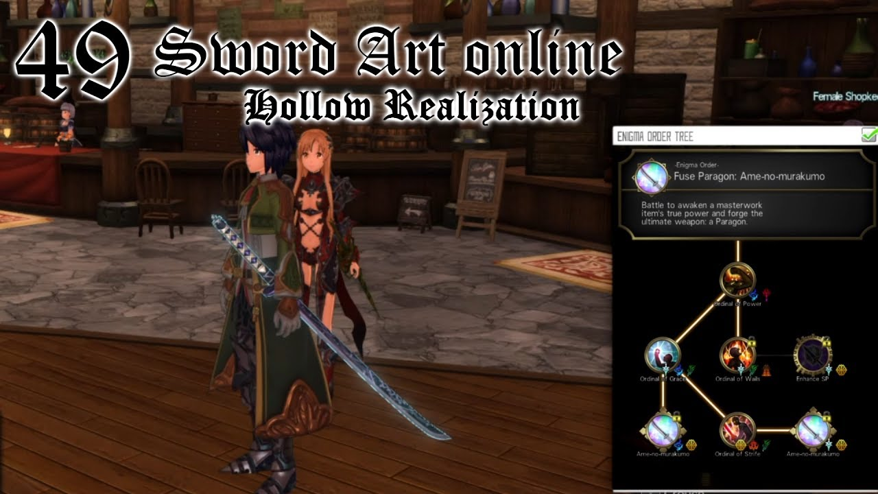 [Sword Art Online]Hollow Realization ITA - 49 - Ame No Murakumo (Katana  Enigma Order)
