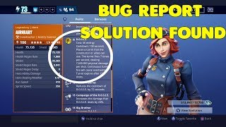 Fortnite Save The World Bug - Airheart Hero Rosie Bug + Solution
