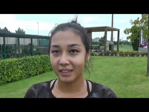 EMPIRE Slovak Open 2016: 1R, Interview, Zarina Diyas (KAZ) - Anna Blinkova (RUS) 6-1, 6-1