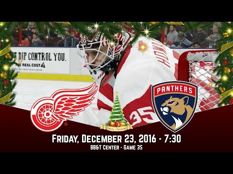 CHRISTMAS HAT TRICK! (Detroit Red Wings @ Florida Panthers) - NHL 17 Franchise Mode